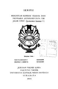 ETANOL UBI JALAR UNGU (Ipomoea batatas L.)
