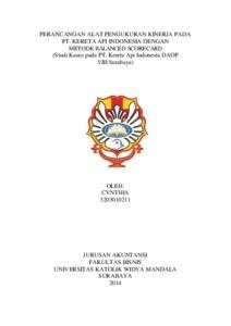 thesis pengukuran kinerja